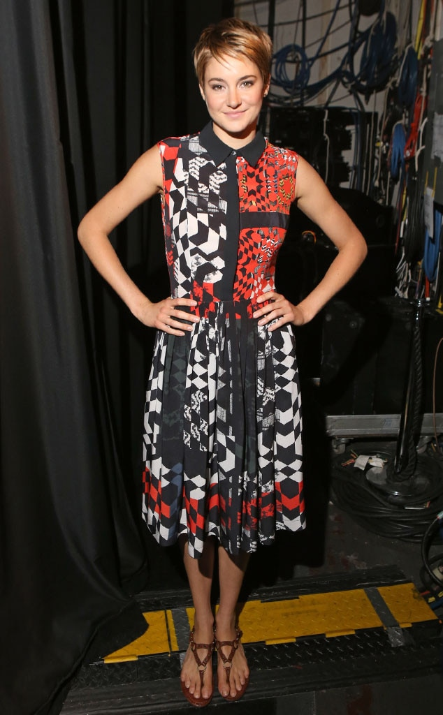 Black, White & Red All Over -  In a geometric-print dress