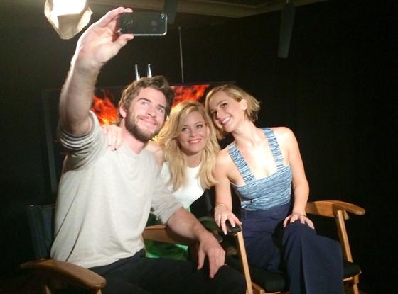Liam Hemsworth, Elizabeth Banks, Jennifer Lawrence