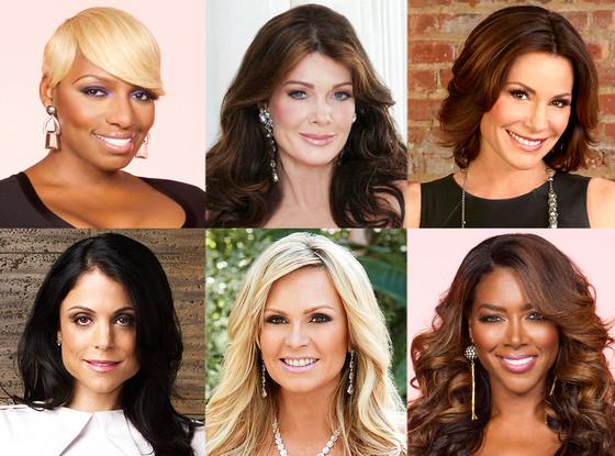 Lisa Vanderpump, Bethenny Frankel, Nene Leakes, Kenya Moore, Tamra Barney, Luann DeLesseps, Real Housewives