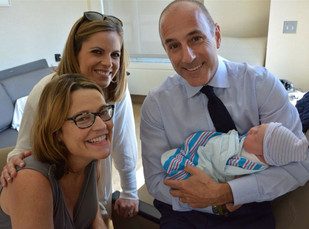 Savannah Guthrie S Baby Meets Today Staff See The Pics E Online