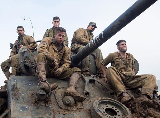 Michael Pena, Brad Pitt, Fury