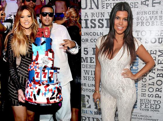 Khloe Kardashian, French Montana, Kourtney Kardashian