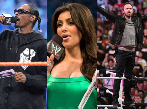 Aaron Paul, Snoop Dogg, Kim Kardashian, WWE Split