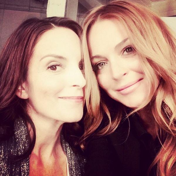 Tina Fey, Lindsay Lohan, Instagram