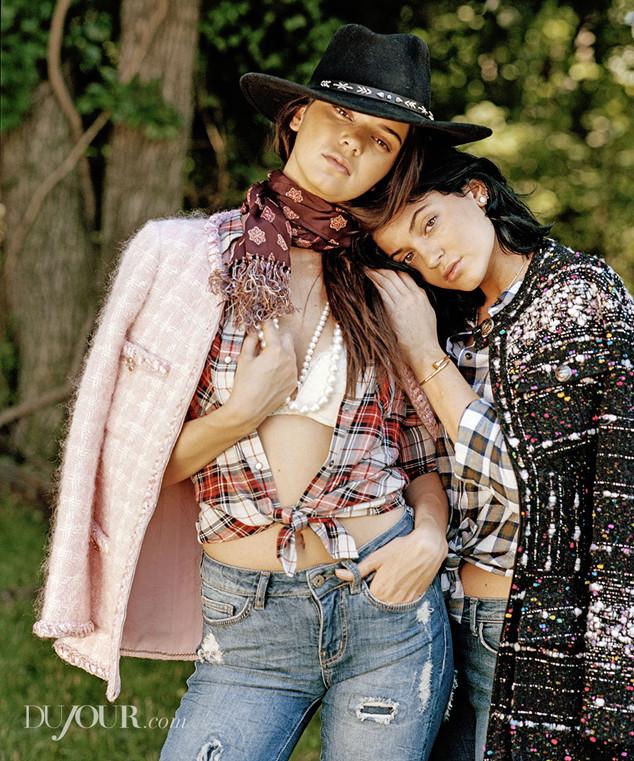 Kendall Jenner, Kylie Jenner, DuJour Magazine