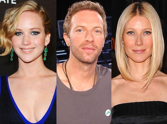 Jennifer Lawrence, Chris Martin, Gwyneth Paltrow