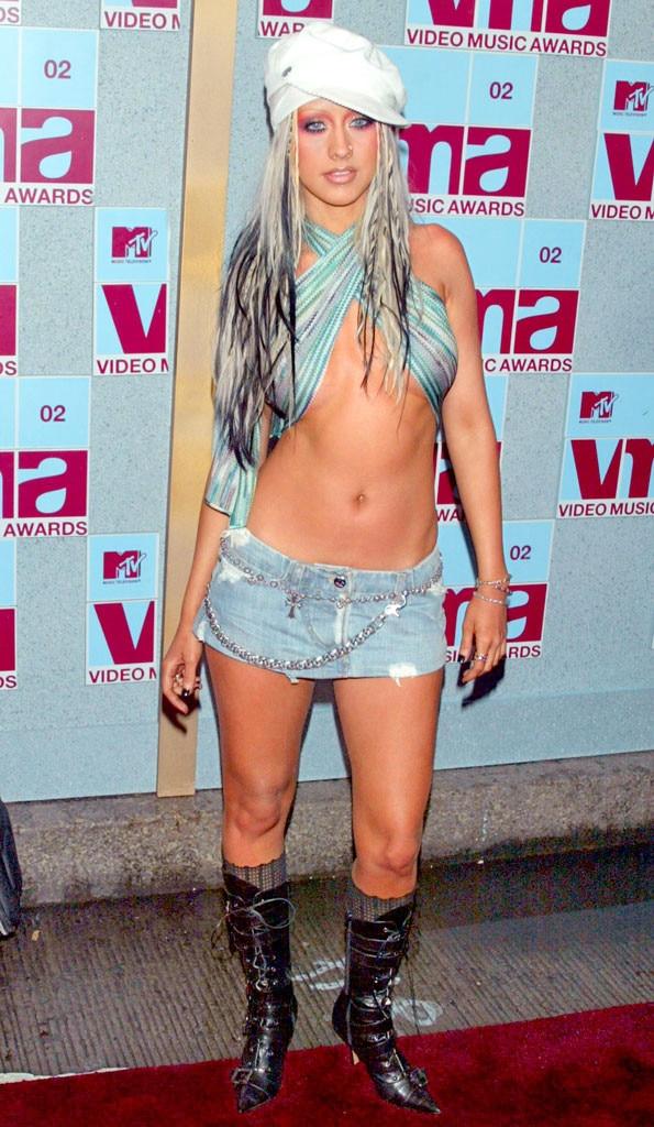 Christina Aguilera MTV VMAs 2002 Worst Dressed