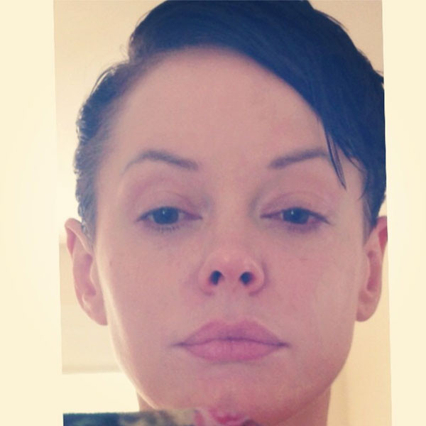 Rose McGowan, Hair