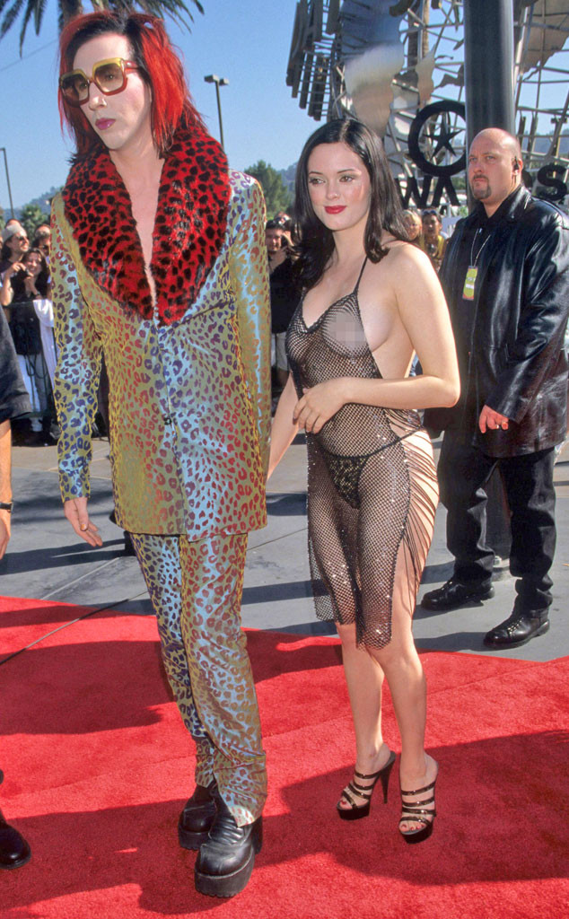 Marilyn Manson, Rose McGowan, MTV VMA's 1998