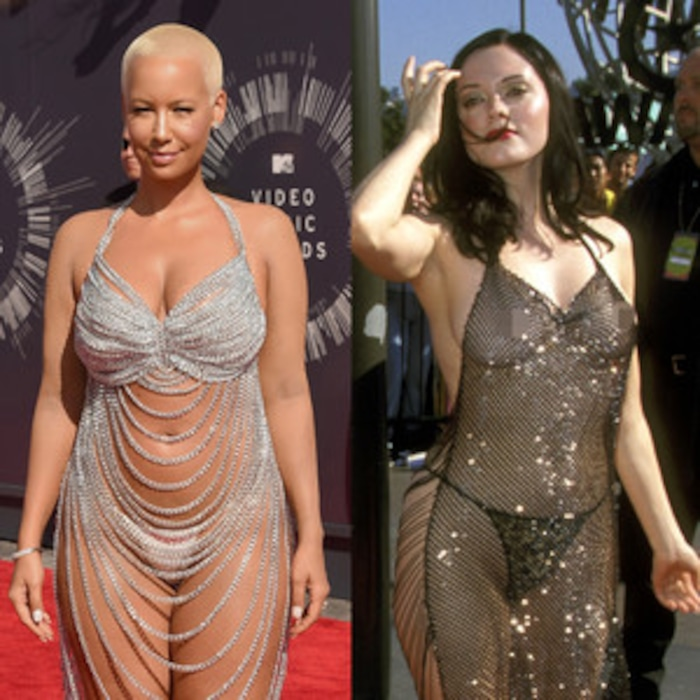 Amber Rose Is Practically Naked in 2014 MTV VMAs Dress, Channels ...