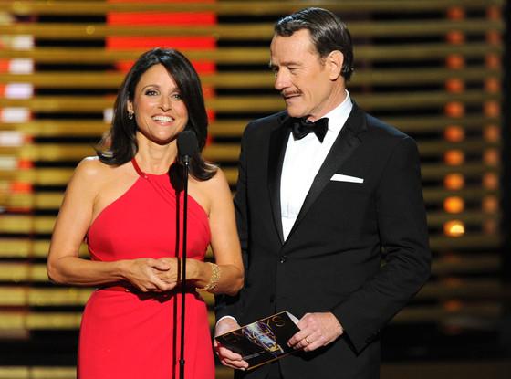 Julia Louis-Dreyfus, Bryan Cranston, Emmy Awards 2014 Show