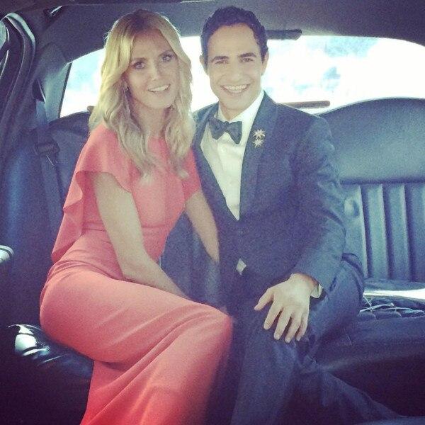 Heidi Klum, Zac Posen, Emmy Instagram