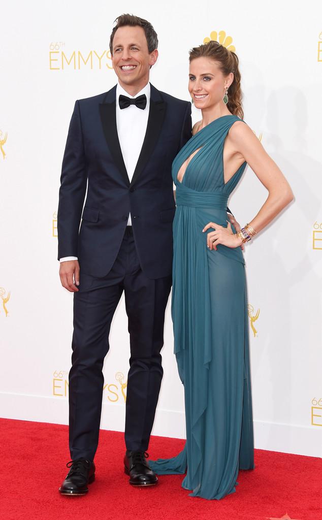 Seth Meyers, Alexi Ashe, Emmy Awards 2014