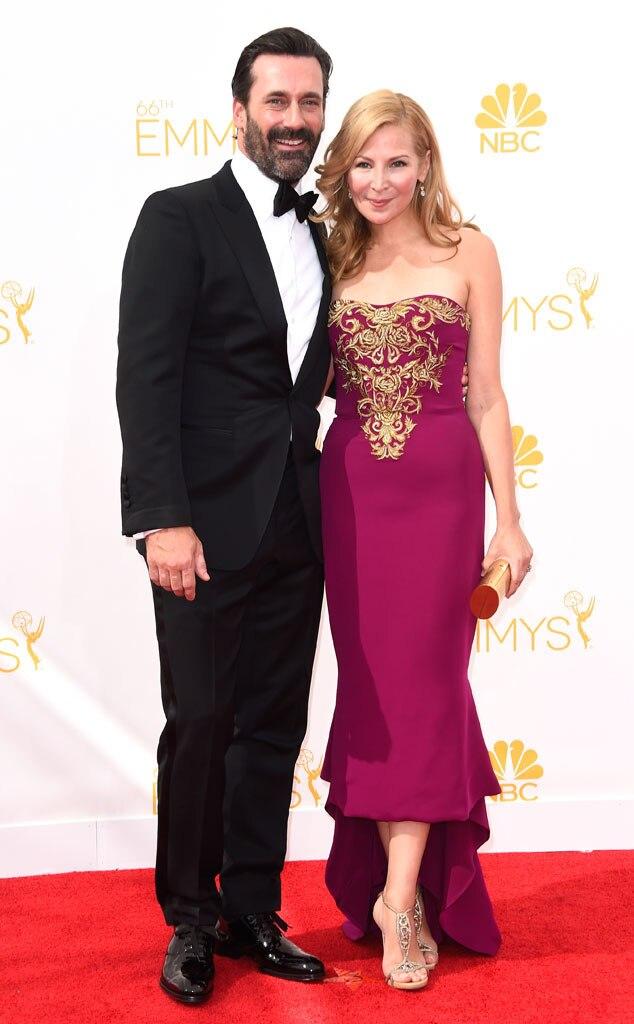 Jon Hamm, Jennifer Westfeldt, Emmy Awards 2014
