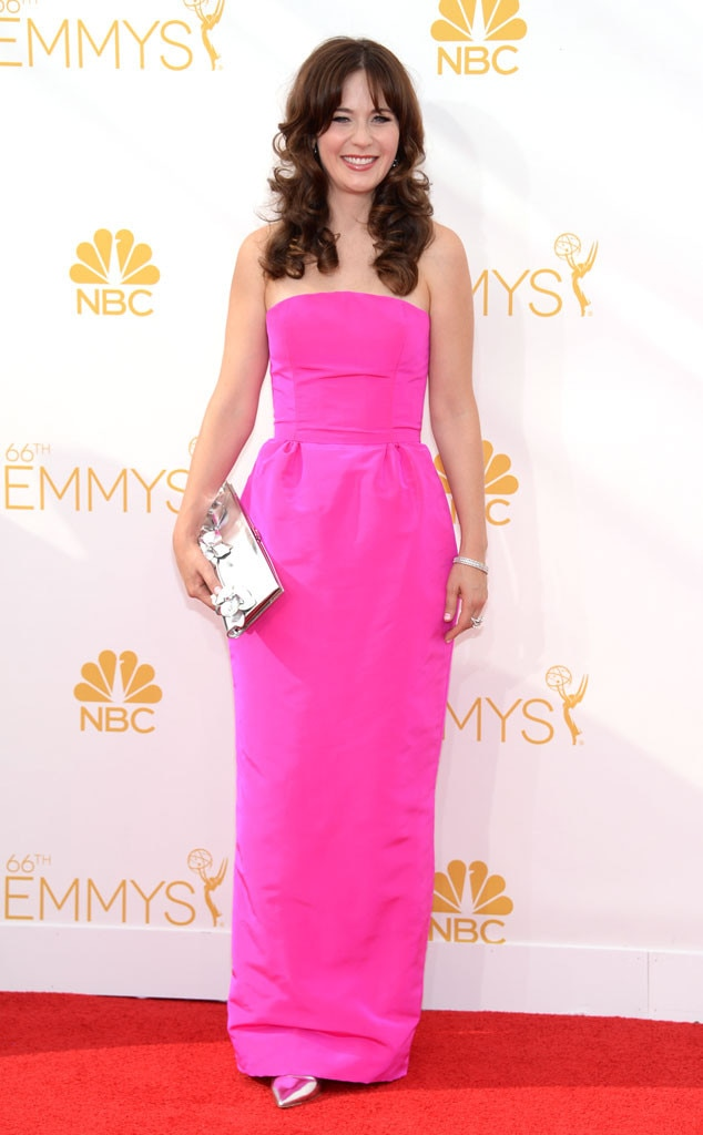 Zooey Deschanel, Emmy Awards 2014, Oscar de la Renta