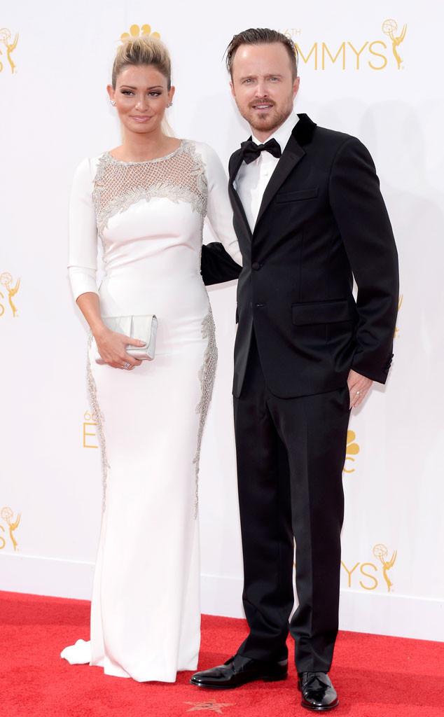 Lauren Parsekian, Aaron Paul, Emmy Awards 2014