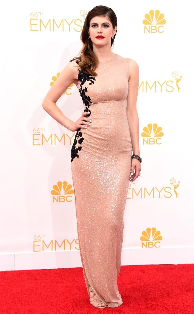 Alexandra Daddario From 2014 Emmys Red Carpet Arrivals  E News-3422