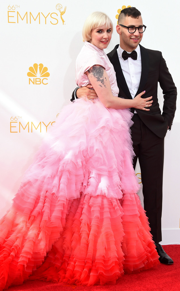 Lena Dunham, Jack Antonoff, Emmy Awards 2014