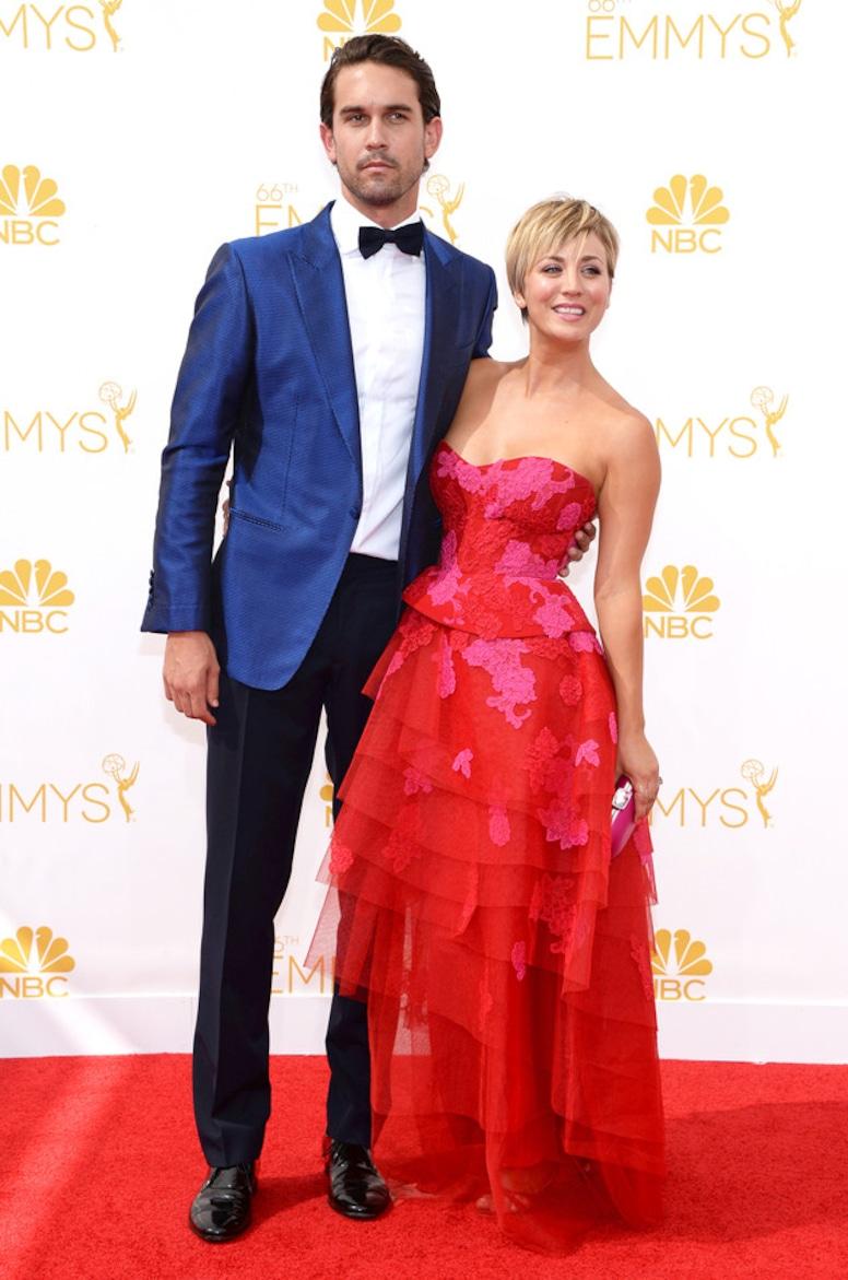 Kaley Cuoco-Sweeting, Ryan Sweeting, Emmy Awards 2014