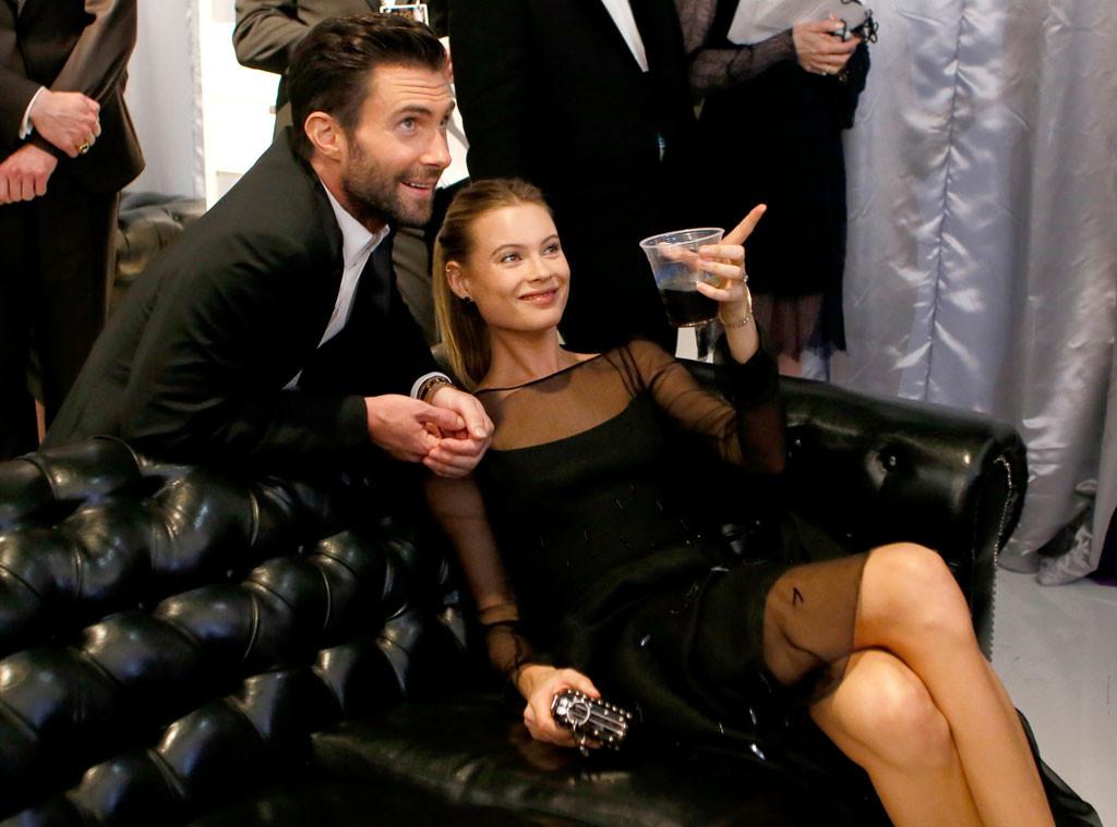 Behati Prinsloo, Adam Levine, Emmy Awards 2014