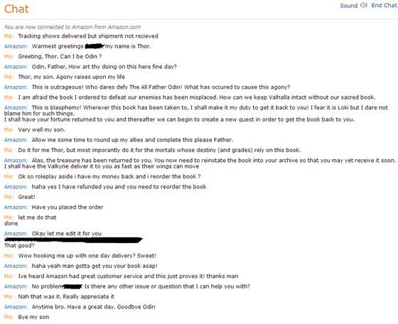 Amazon Customer Service Conversation