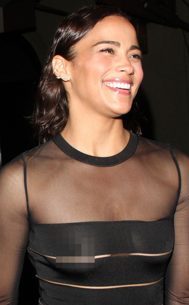 Paula Patton Flashes Nipples In Sheer Dress At Emmys Party