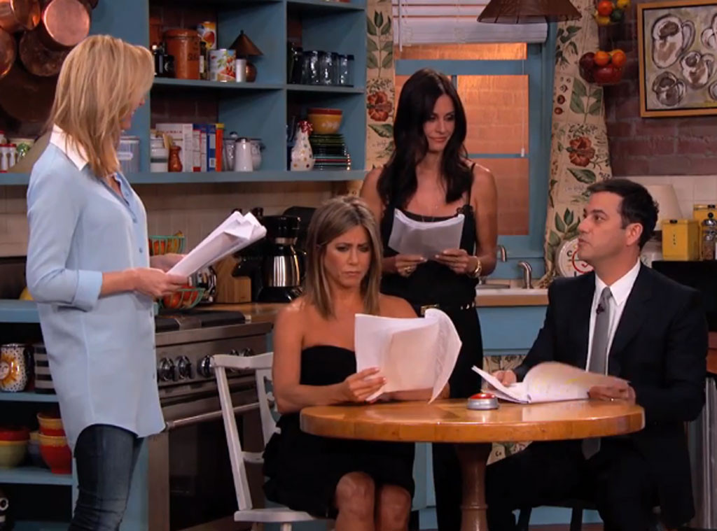 Jennifer Aniston, Courteney Cox, Lisa Kudrow, Jimmy Kimmel