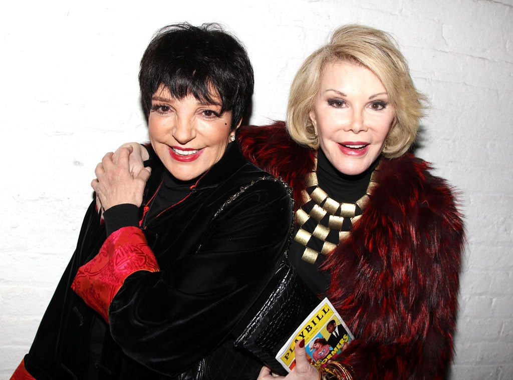Joan Rivers, Liza Minnelli, Famous Friends