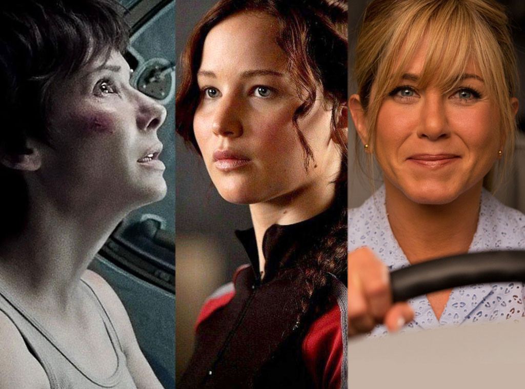 Sandra Bullock, Gravity, Jennifer Lawrence, Hunger Games, Jennifer Aniston, We're The Millers