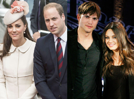 Summer Couples, Prince William, Kate Middleton, Ashton Kutcher, Mila Kunis
