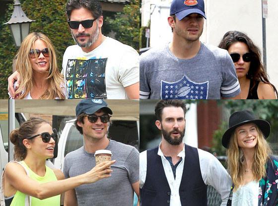 Ashton Kutcher, Mila Kunis, Joe Manganiello, Sofia Vergara, best of summer couples