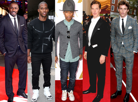 Benedict Cumberbatch, Eddie Redmayne, Idris Elba, Pharrell Williams, Victor Cruz