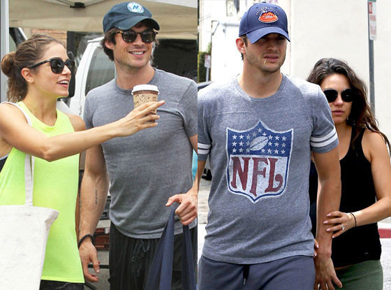 Ian Somerhalder, Nikki Reed, Mila Kunis, Ashton Kutcher