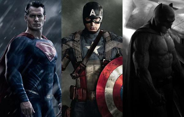 Captain America, Superman, Batman