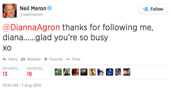 Dianna Agron, Tweet