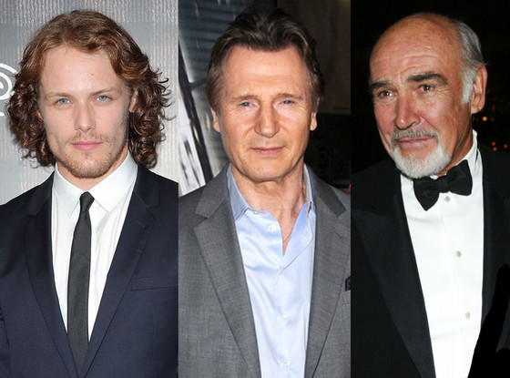 Liam Neeson, Sam Heughan, Sean Connery