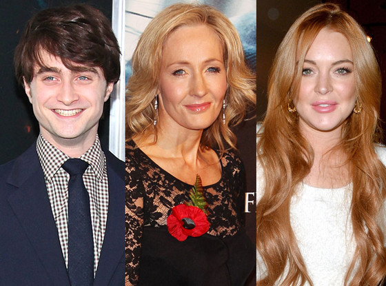 Daniel Radcliffe, J.K. Rowling, Lindsay Lohan