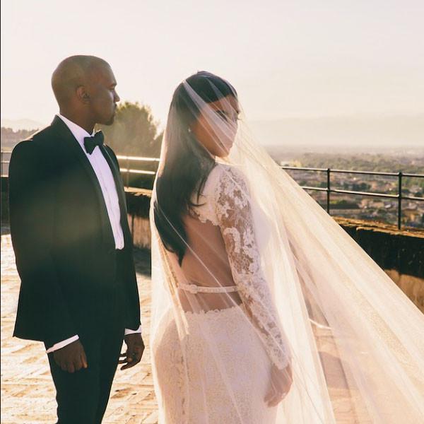 Kim Kardashian, Kanye West, Instagram, Wedding