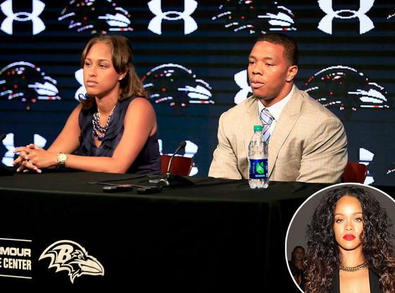 Ray Rice, Janay Palmer, Rihanna