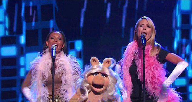 Heidi Klum, Mel B, Miss Piggy