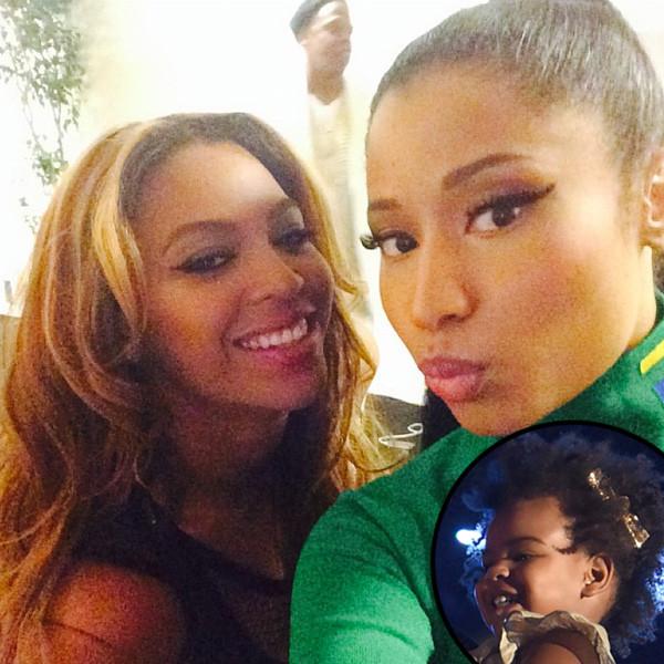Beyonce Nicki Minaj Blue Ivy Instagram