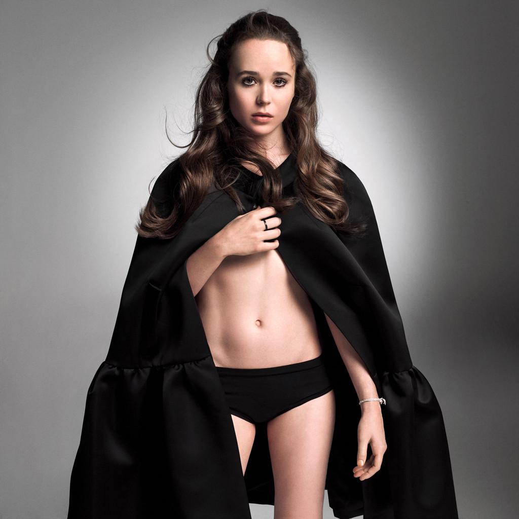 Ellen Page Strips Down To Her Underwear, Talks About -3195