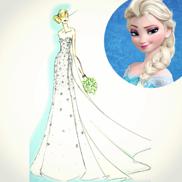 Want a Frozen Wedding Dress? Disney and Alfred Angelo Just Created ...