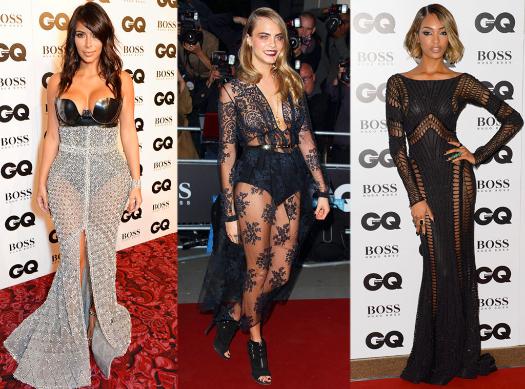 Kim Kardashian, Cara Delevingne, Jourdan Dunn, GQ Man of the Year Awards