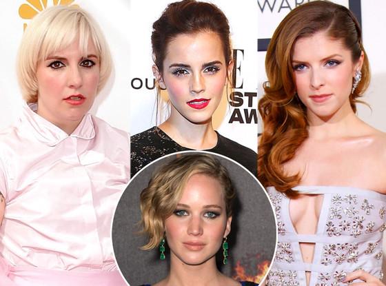 Lena Dunham, Emma Watson, Anna Kendrick, Jennifer Lawrence