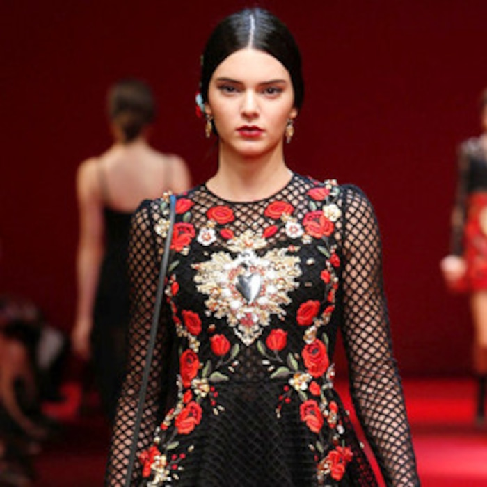 fafd91c825f Kendall Jenner Is Front and Center at Dolce   Gabbana s Milan Fashion Week  Show—Take a Look!