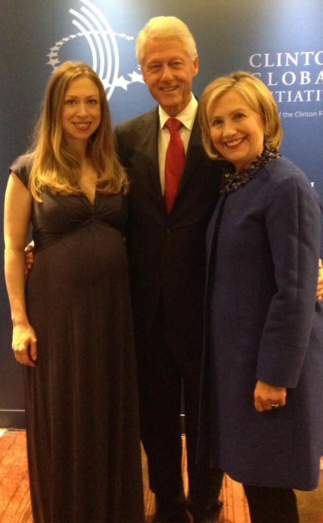 Chelsea Clinton, Bill Clinton, Hillary Clinton, Twitter