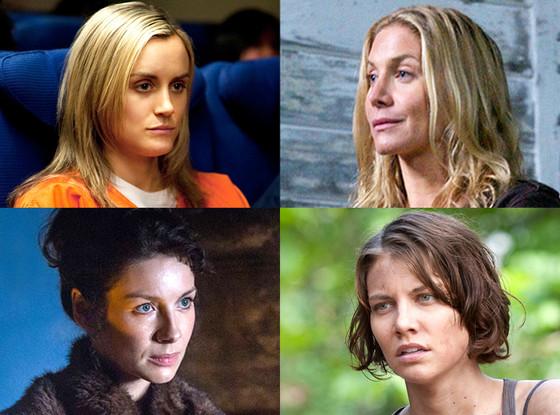Taylor Schilling, Caitriona Balfe, Lauren Cohan, Elizabeth Mitchell, TV's Makeup Free Ladies