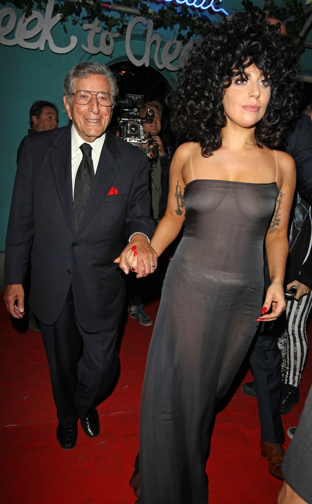 Tony Bennett -  When Gaga's 2013 album  Artpop  turned into something of an art flop , she made a hard pivot out of the pop music scene and teamed up with the legendary singer  Tony Bennett  for the collaborative jazz album, Cheek to Cheek. The album came about after Bennett asked Gaga to join him on his earlier album Duets II.