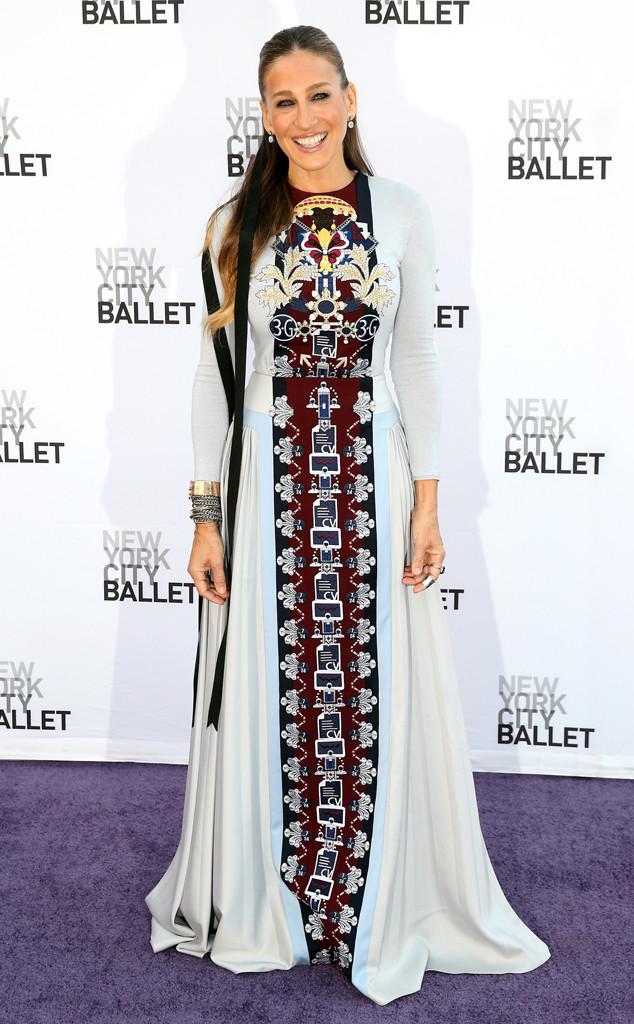 Sarah Jessica Parker S Hippie Rug Gown